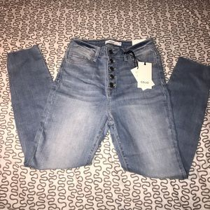 NEW CELLO High Rise Crop Skinny Jeans